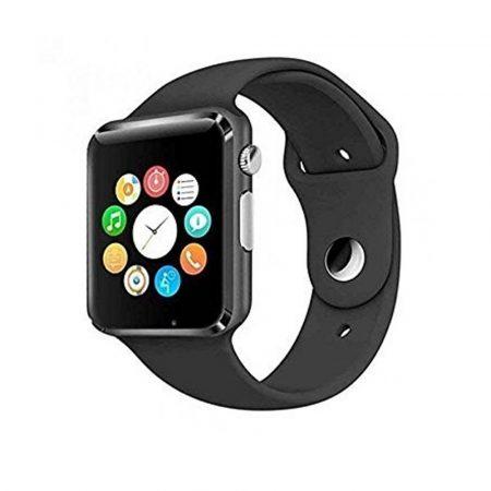 AlphaOne A1  smart hodinky čierna so zaobleným displejom, SIM kartou a množstvom ďalších funkcií