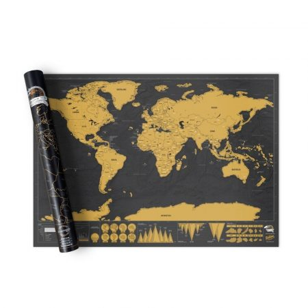 Škrabacia  mapa sveta, cestovanie svetom  holm0113