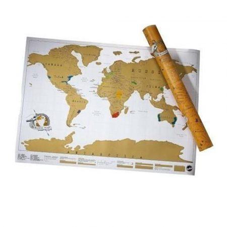 Škrabacia mapa Sveta, Cestovanie  prémium holm0114