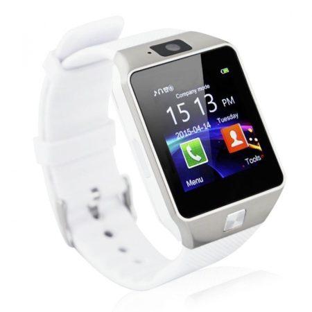 AlphaOne DZ09 Inteligentné hodinky, biele holm0176