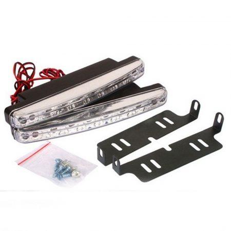 LED denné svetlo do auta, s 8 led.dekoratívne osvetlenie,jednoduchá inštalácia, odolné voči nárazom a vode