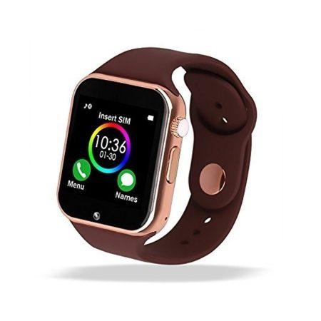 AlphaOne A1  smart hodinky V zlatej farbe  so zaobleným displejom, SIM kartou a množstvom ďalších funkcií