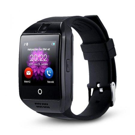 AlphaOne SmartWatch  čierná Q18 so zaobleným displejom a SIM kartou