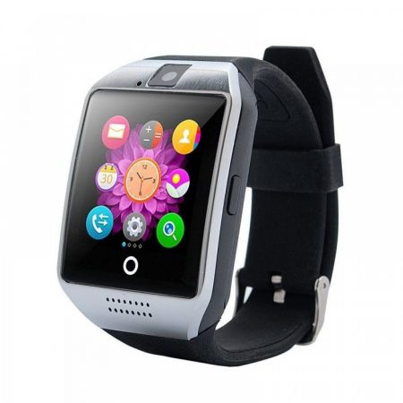 AlphaOne Q18 SmartWatch  Silver-Black - so zaobleným displejom a SIM kartou