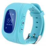 Bass q50 kid smart hodinky, modré Detské inteligentné hodinky GPS lokátorom