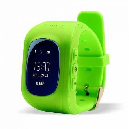 Bass q50 kid smart hodinky, zelene-Detské inteligentné hodinky GPS lokátorom