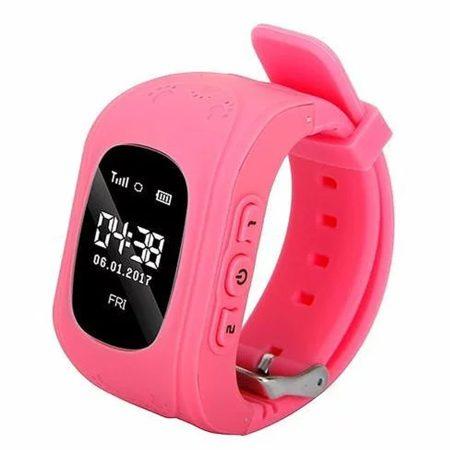 Bass q50 kid smart hodinky, ružové -Detské inteligentné hodinky GPS lokátorom