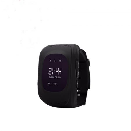 Bass q50 kid smart hodinky, čierne-Detské inteligentné hodinky GPS lokátorom