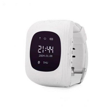 Bass q50 kid smart hodinky, biele -Detské inteligentné hodinky GPS lokátorom