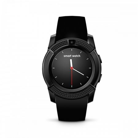 Bass V8 smart hodinky, čierne