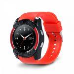 Bass V8 smart hodinky, červene