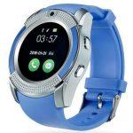 Bass V8 smart hodinky, modre