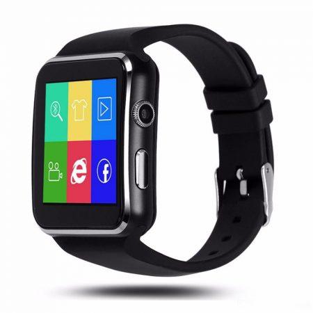 AlphaOne X6 smart hodinky, čierne