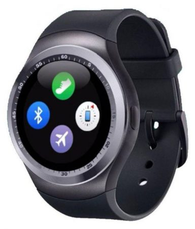 AlphaOne Y1 smart hodinky strieborne holm0379