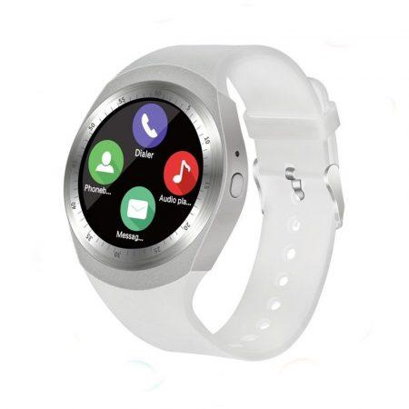 AlphaOne Y1 smart hodinky, biele