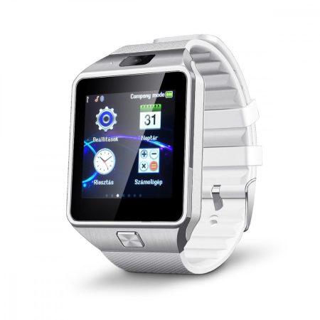 AlphaOne M8 premium smart hodinky strieborná - bielá farba holm0384