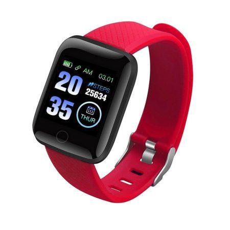 PlusWatch ID116 Inteligentné hodinky Červené holm0627