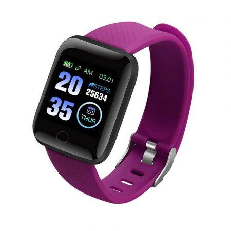 PlusWatch ID116 Inteligentné hodinky Fialové holm0629