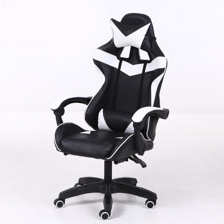 RACING PRO X Herná stolička -bielo-čierna