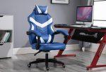 Gamer stolička -biela, modrá