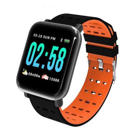 MikeWatch A6 Oranžove Inteligentné hodinky holm1018