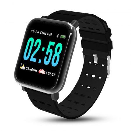 MikeWatch A6 Čierne Inteligentné hodinky holm1019