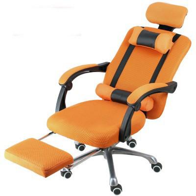 Prezidentská stolička s podnožkou -oranžová