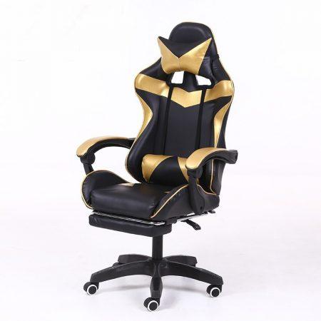 RACING PRO X Hráčske kreslo s opierkou na nohy, zlato-čierna