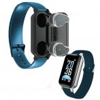 T89 inteligentný náramok- modrý-Majte všetko na jednom mieste,  náramok+ Bezdrôtové slúchadlá