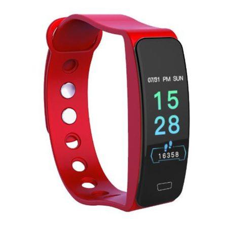 B1 červený náramok -Masszív de elegáns külső,egészségügyi monitorozás,értesítések,sportmód.