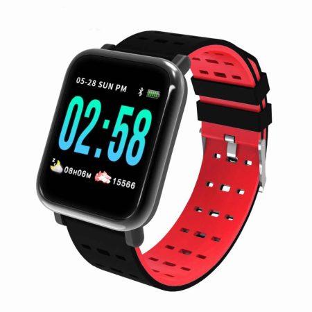 A6 Červené Inteligentné hodinky