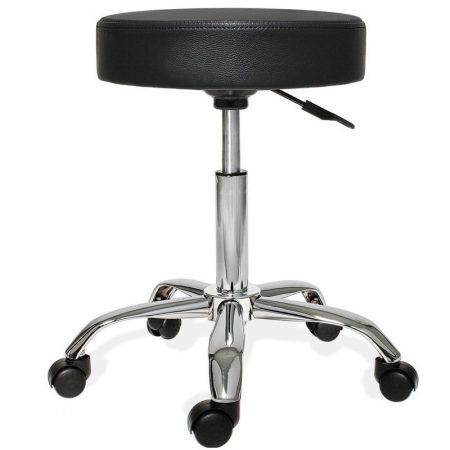 Otočná Stolička s nastaviteľnou výškou, čierna
