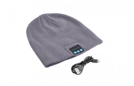 Bluetooth šedá čiapka