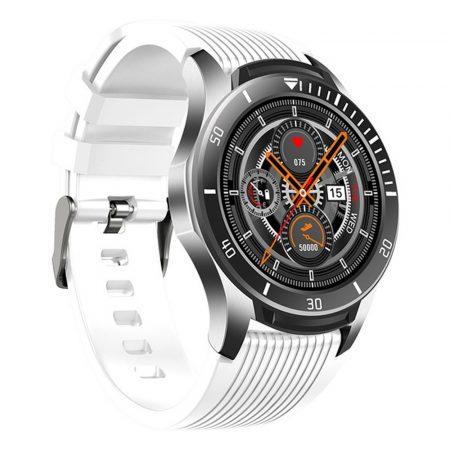 GT106 smartwatch v bielej farbe