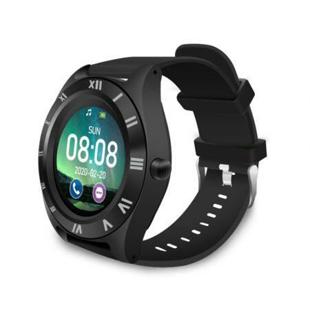 M11 chytré hodinky s čiernym remienkom