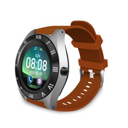 M11  chytré hodinky s hnedým remienkom