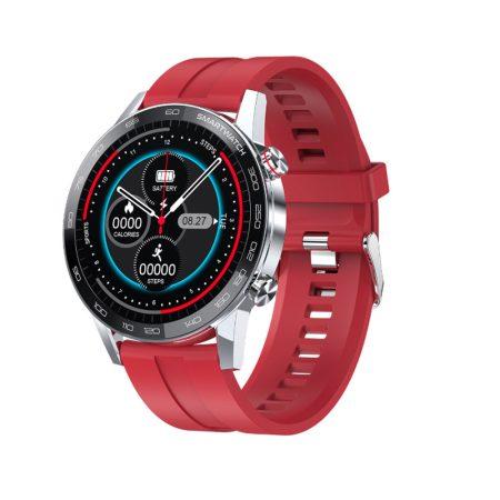 L16 PREMIUM Smart hodinky - strieborné