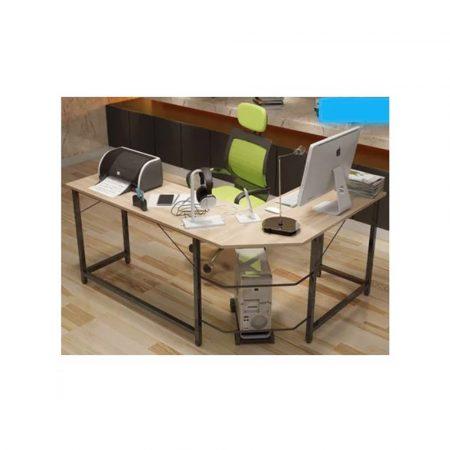 svetlý rohový kancelársky pracovný stôl