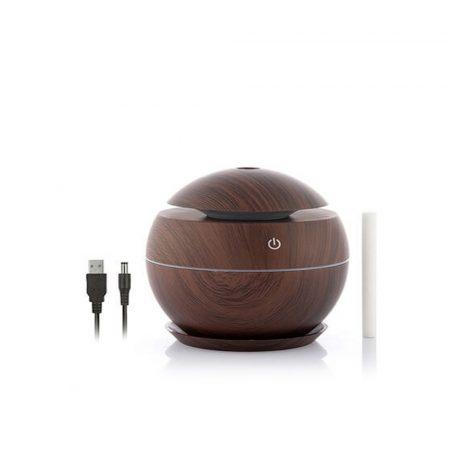 Mini USB  Aroma difuzér  - osviežovač a zvlhčovač vzduchu-tmavý