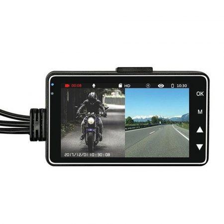 Palubná kamera s 2 kamerami pre motorky