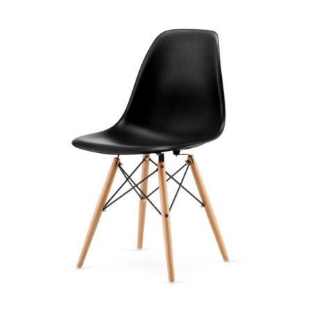 4x Dizajnové moderné jedálenské stoličky do vašej kuchyne alebo môžu byť klenotom obývacej izby-čierná