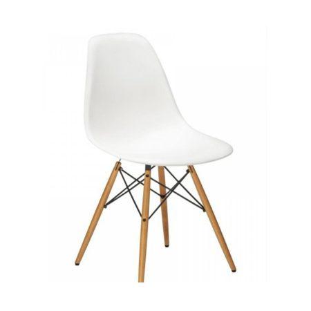 4x Dizajnové moderné jedálenské stoličky do vašej kuchyne alebo môžu byť klenotom obývacej izby-biela