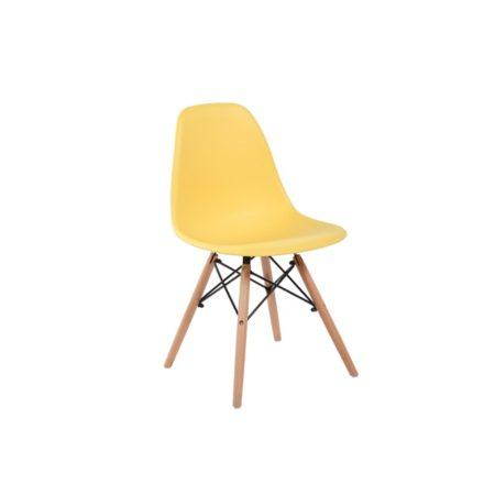 4xDizajnové moderné jedálenské stoličky do vašej kuchyne alebo môžu byť klenotom obývacej izby-žltá