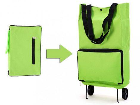 Skladacia nákupná taška na kolieskach