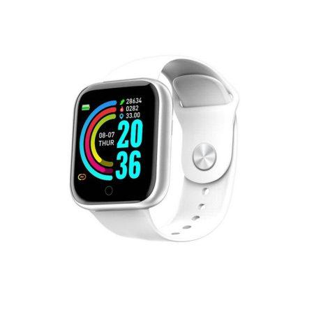 Y68 inteligentné hodinky -v bielej farbe
