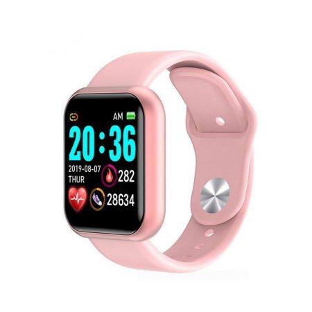Y68  inteligentné hodinky -v ružovej farbe