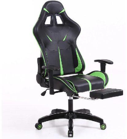 Sintact Gamer stolička zeleno-čierna s opierkou pre nohy