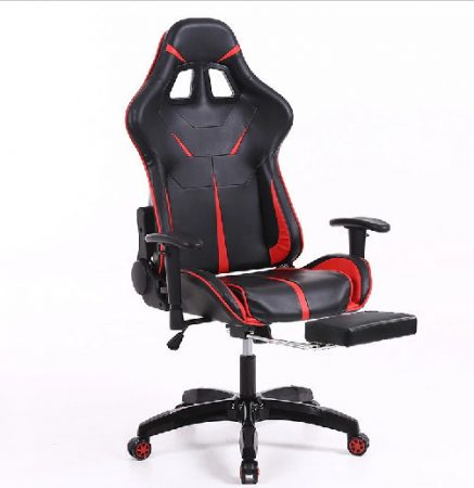 Sintact Gamer stolička červeno-čierna s opierkou pre nohy