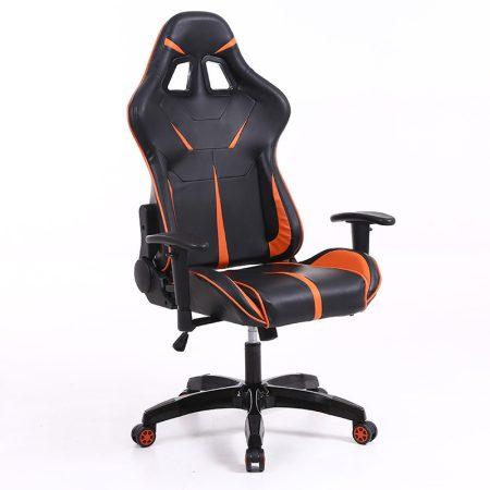 Stolička Sintact Gamer oranžovo-čierna bez opierky na nohy