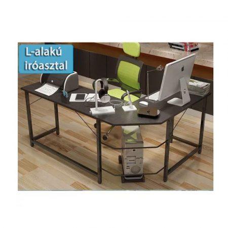 Rohový kancelársky pracovný stôl-čierný